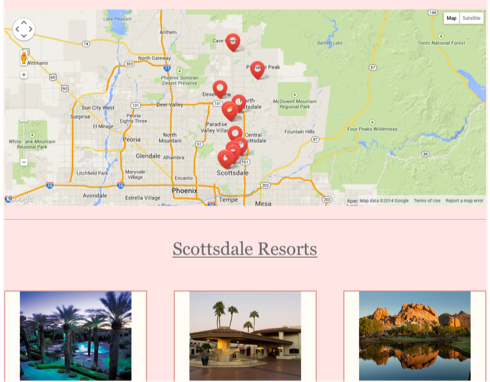 Location driven travel page
